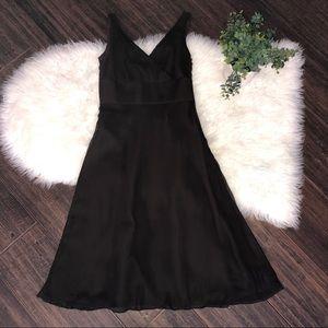 J. Crew Brown Dress Silk Size 2 Empire Waist